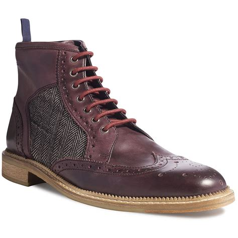 smith mens boots goodwin smith mens cowpe burgundy lace up leather boots at