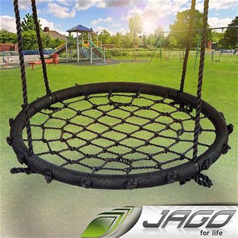 round rope swing seat children swing outdoor round rope nest basket seat toy