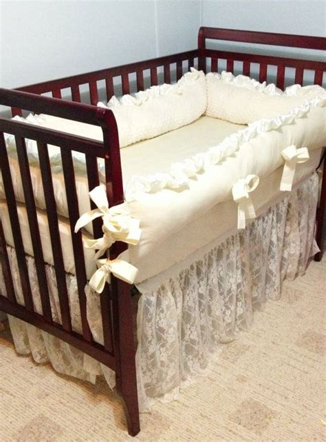 ivory crib bedding baby bedding crib bedding ivory lace and ivory cotton