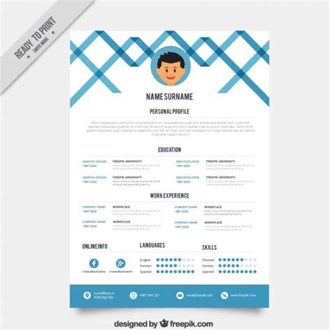 Plantillas De Curriculum Creativas Plantilla Curriculum Vitae Azul Creativa Descargar Vectores Gratis