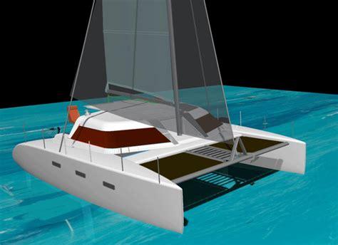catamaran davit design carbon fiber davit design page 2 boat design net