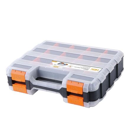 hdx 13 in 34 compartment sided small parts
