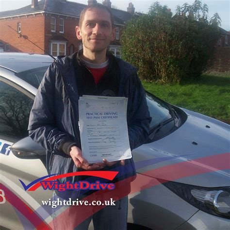 sle of driving test simmonds driving test pass isle of wight driving