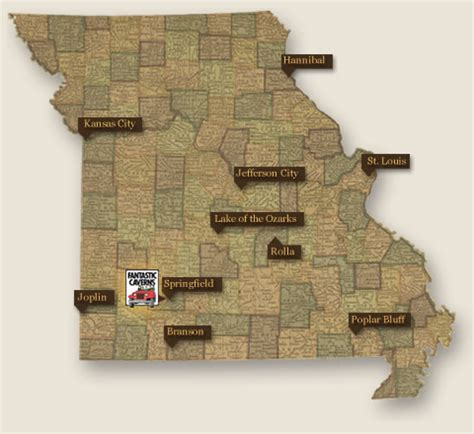 missouri caves map visit one of missouri s oldest attractions branson