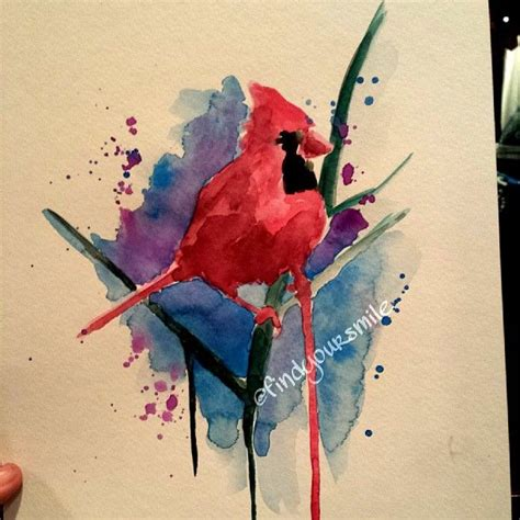 watercolor cardinal tattoo 1000 ideas about cardinal bird tattoos on