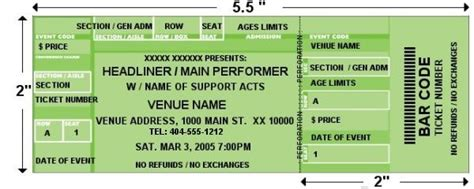 custom event tickets design and print your own custom