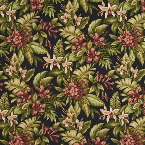 tropical print upholstery fabric green and burgundy tropical hawaii floral print upholstery