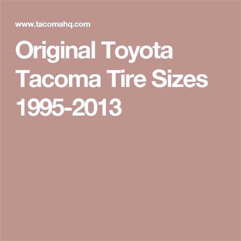 Toyota Wheel Size Chart 25 Best Ideas About Tire Size On Tire
