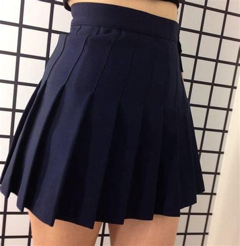 skirt grunge black skirt tennis skirt navy navy blue