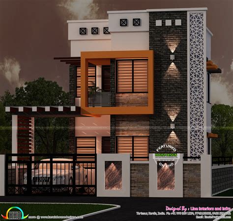 home design blogs small flat roof modern contemporary home kerala home