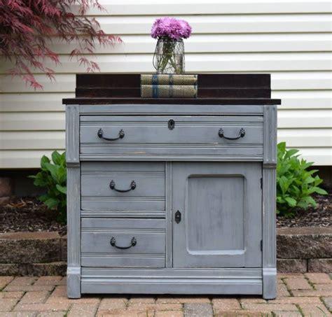 custom gray blended nightstand general finishes design center
