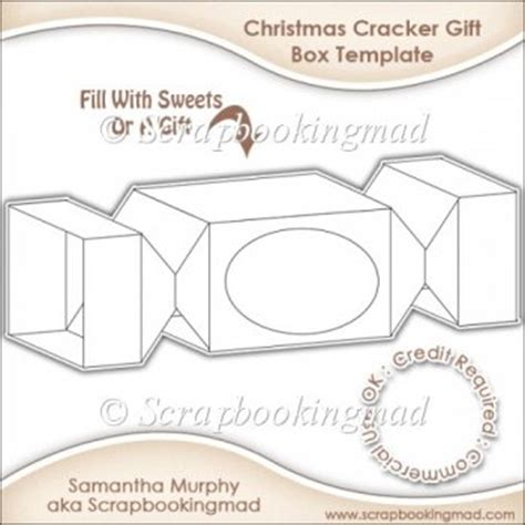Christmas Cracker Gift Box Template Cu Ok 163 3 50 Instant Card Making Downloads Make Your Own Crackers Template