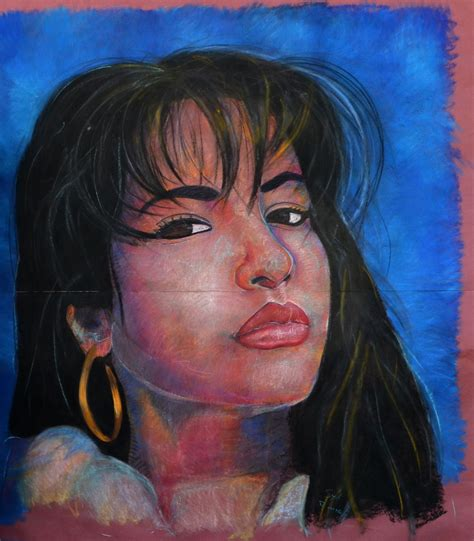 Selena Q Drawing by Selena Quintanilla Soft Pastel Portrait By Auroraled On