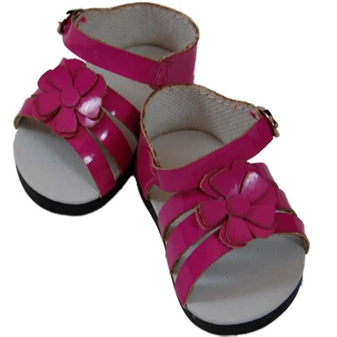 shoes and clothes pink strappy sandals for 18 quot american 168 doll clothes