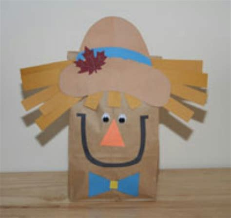 Brown Paper Bag Crafts For Preschoolers - scare scarecrow craft