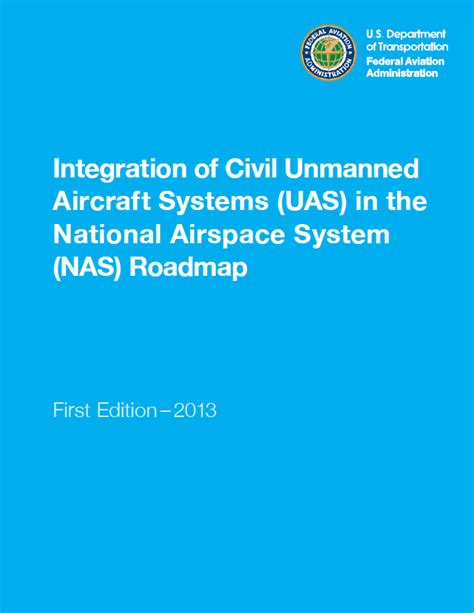 airworthiness certification of unmanned aircraft systems and optionally piloted aircraft order 8130 34d edition sep 2017 faa knowledge series books faa integration of civil unmanned aircraft systems uas