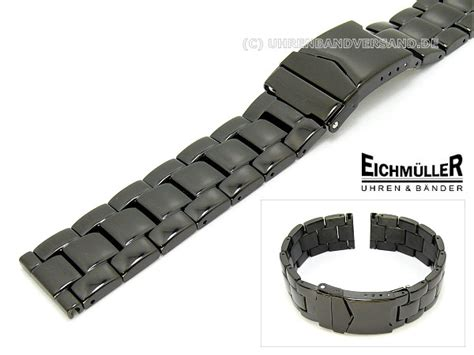Edelstahl Uhrenarmband Polieren by Uhrenarmband 22mm Edelstahl Massiv Schwarz Poliert