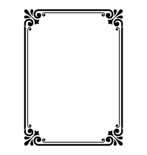 design frame vector simple ornamental decorative frame vector 652257 by
