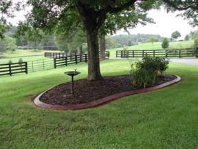 landscaping borders gardening around trees coastal curbing bringing curb