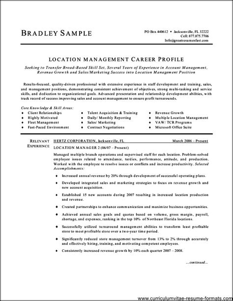 free office manager resume templates free sles