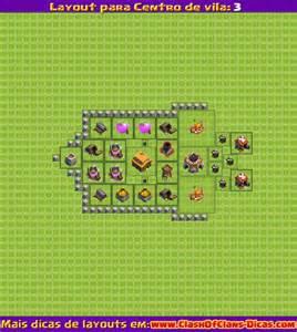 Layouts para clash of clans centro de vila n 237 vel 3 clash of clans