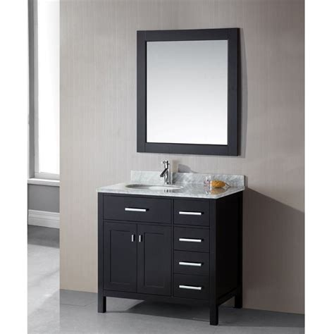 36 inch bathroom vanity with drawers design element london 36 inch single sink 4 drawer