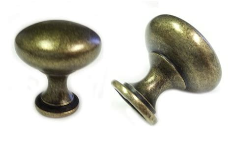 Antique Brass Kitchen Cabinet Hardware | 25pcs antique brass mushroom kitchen cabinet knobs 30mm