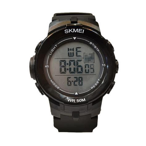 Diskon Jam Tangan Pria Swiss Army Bj077 Black White harga skmei 1127blk jam tangan pria black diskon 7