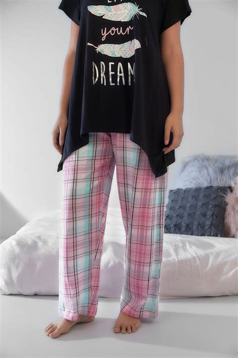 Wasch Und Trockner 1863 by Pink Gr 252 N Karierte Pyjama Hosen In Gro 223 En Gr 246 223 En 44 64