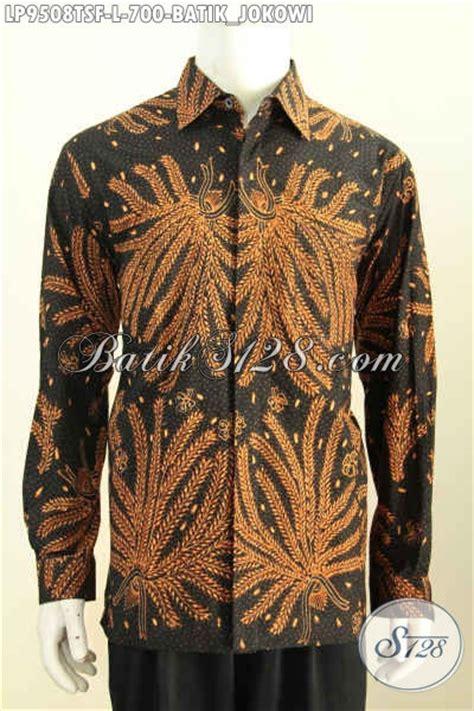 Kemeja Hem Batik Pria Lengan Panjang Motif Jokowi Sogan Biru batik hem premium size l kemeja batik tulis soga furing lengan panjang baju batik jokowi