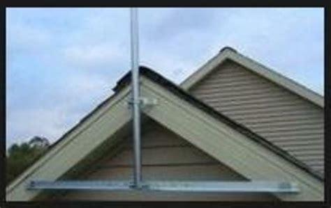 antenna roof mount kit gable  outdoor eave mounting brackets  tv fm mast ebay