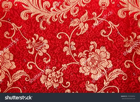 Printed Reds by Traditional Floral Print Pattern On Stock Photo