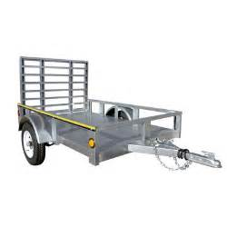home depot utility trailer marathon utility trailers 4 foot x 6 foot galvanized