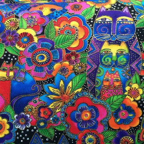 burch upholstery supplies laurel burch fabric cats with flowers fanciful by
