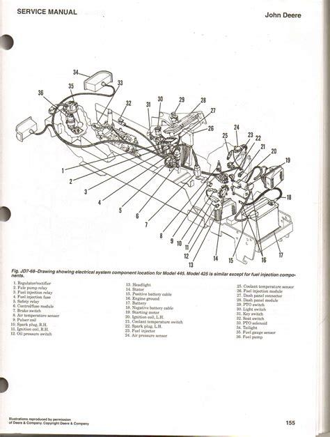deere 445 wiring diagram location of the fuel injector module on a deer 445