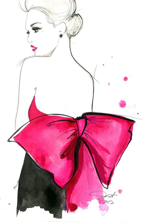 fashion illustration gouache print from original watercolor and pen fashion illustration by