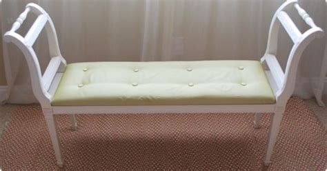 make your own bench cushion how to reupholster a fabric tufted bench project time