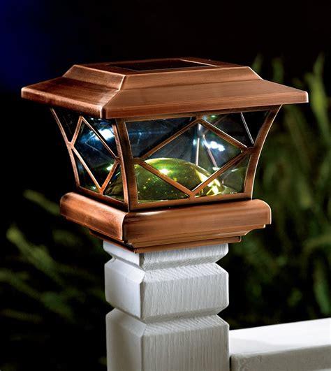Solar Light Deck Post Caps by Deck Solar Lights Post Caps Home Design Ideas