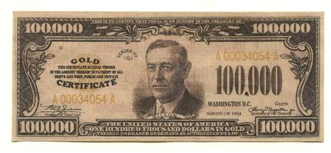 100 000 Dollar In Der Image Gallery 100 000 Dollar Bill