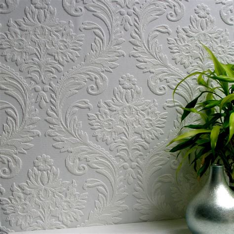Embossed Paintable Wallpaper | anaglypta high trad paintable textured vinyl wallpaper