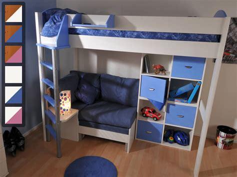 Cheap High Sleeper Beds by Stompa Casa 7 High Sleeper Bed With Sofa Bed And Cupboards