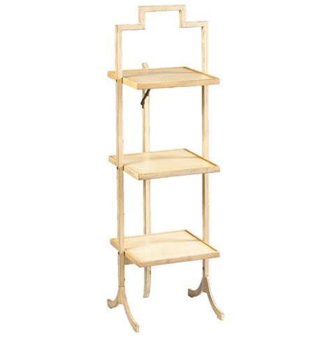 nouvel country ivory square folding display shelves