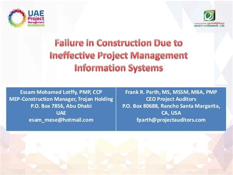 Mba In Construction Project Management by Failure In Construction Due To Ineffective Project