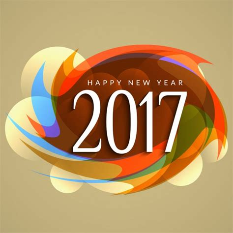 modern new year colorful new year 2017 modern background vector free
