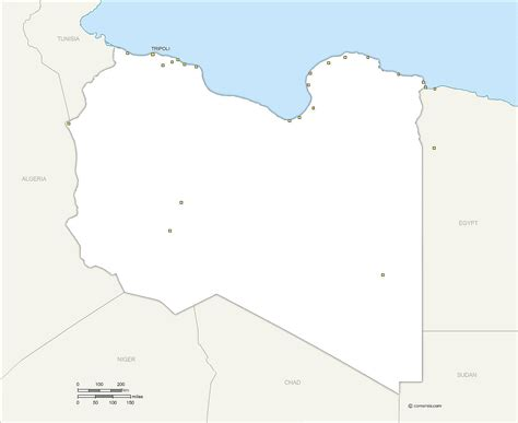 Libya Map Outline by Bahrain Map