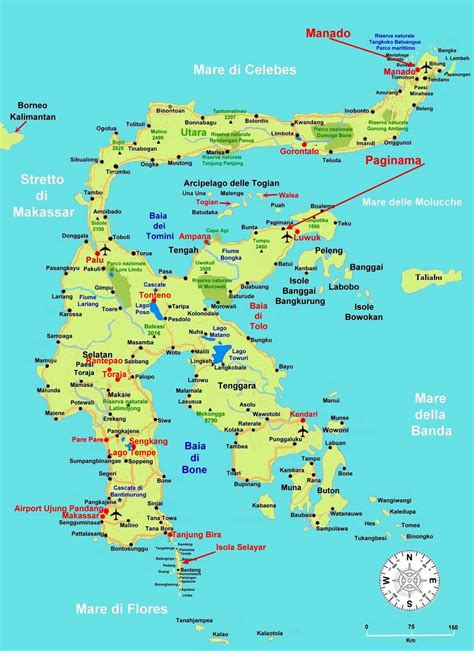 map island large sulawesi island maps for free and print