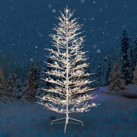 home depot winterberry outdoorlit tree ge pre lit 7 white winterberry artificial tree dual color led lights walmart