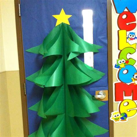 diy christmas tree classroom door decorations tree classroom door decorations happy holidays