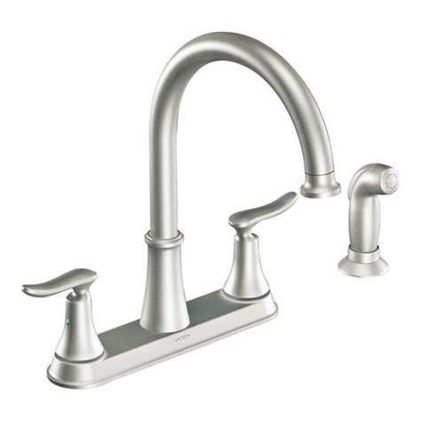 moen kitchen faucet model number moen solidad 2 handle high arc kitchen faucet