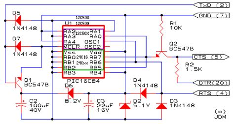 jdm programmer circuit diagram picpgm a free and simple pic development programmer